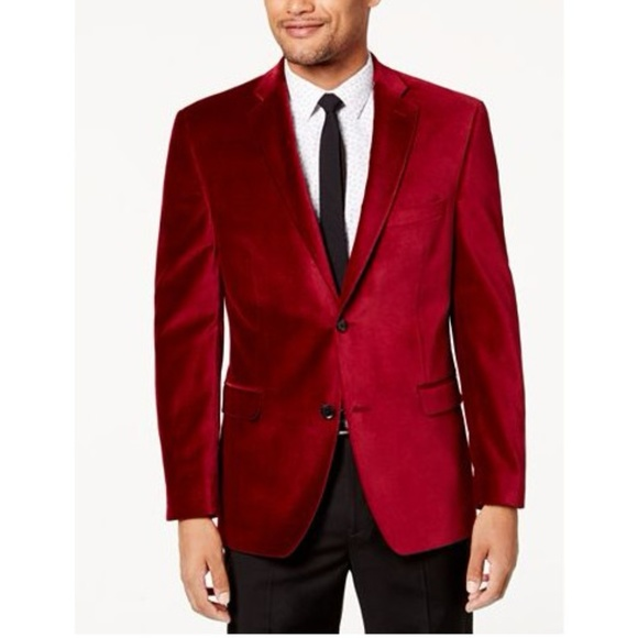 alfani suits blazers red velvet sports coat blazer jacket poshmark